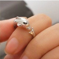 Lovely Dolphin Ring