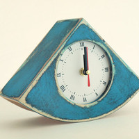 desk clock blue  BujACZEK  - mothers day