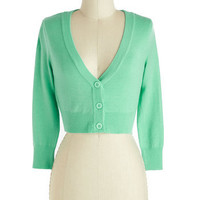 The Dream of the Crop Cardigan in Mint | Mod Retro Vintage Sweaters | ModCloth.com