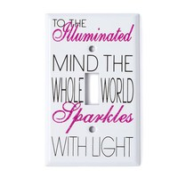 The Whole World Sparkles Light Switch Cover  | Icing