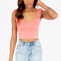 Chasing Ruffles Crop Top $21