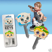 TCHOTCH KEYS - KNICK-KNACK KEY CAPS - 2 CUTE TCHOCHKIES