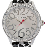 Betsey Johnson Print Leather Strap Watch | Nordstrom