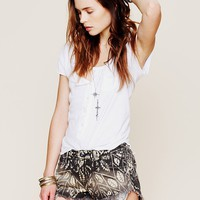 Free People Shibori Printed Cut Off