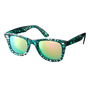 ASOS Green Tort Wayfarer with Mirror Lens