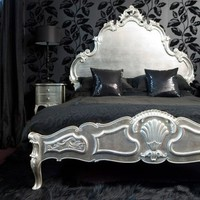 Sylvia Silver Luxury Bed