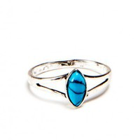 Brandy ♥ Melville |  Marquise Teal Stone Ring - Accessories