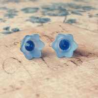 Flower Stud Earrings Flower Studs Small Flower Stud Earrings Small Flower Studs Floral Stud Earrings Floral Studs Cute Bridesmaids Earrings