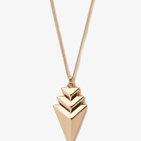 Stacked Arrowhead Necklace