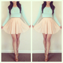 Lush Textured Knit Skater Skirt