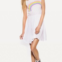 PASTEL RAINBOW 90'S BABY DOLL at Wildfox Couture in  - CLEAN BLACK, -CLEAN WHITE