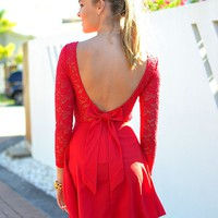 ESSENCE OF BEAUTY DRESS (RED)