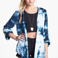 h.i.p. Open Back Drape Jacket (Juniors) | Nordstrom