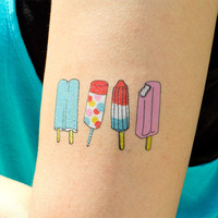 Tattly™ Designy Temporary Tattoos — Popsicles