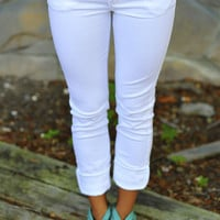 What A Girl Wants Pants: White | Hope's