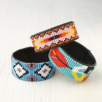 Free People Beaded Design Open Cuff