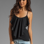 Susana Monaco Ruffle Tank in Black from REVOLVEclothing.com
