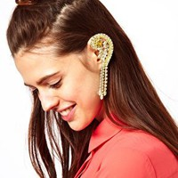 ASOS Jewel Earcuff with Swarovski Stones at asos.com
