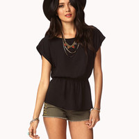 Shirred Georgette Top
