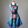 WEAR ART  Van Gogh paintings into your dress ....Romantic Dreamy Soft Silk Flowy Delicate Dress Tunic