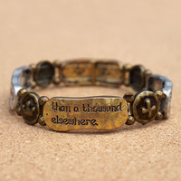 Better is One Day in Your Courts than a Thousand Elsewhere Stretch Bracelet