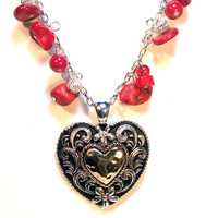 Big Heart Pendant Necklace