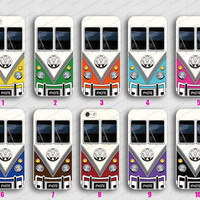 VW Minibus 10  Colors  iphone 5 cases Hard case Rubber case iphone 4 case iphone 5 cover the best iphone case unique design