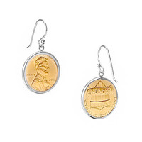 PENNY EARRINGS WITH PERSONALIZED YEAR