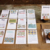 2013 Letterpress Calendar  NOW 30% OFF