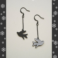 SALE 30% OFF cute double bird earrings
