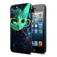 LASER CAT SPACE GALAXY - iPhone 5 Case, iPhone 4/4s Case, Hard Case FDL