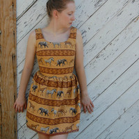 #petite #teadress #safari #dress #upcycled #sundress
