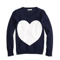 Girls&#x27; heart sweater