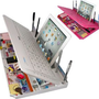 Bluetooth 6 in 1 Keyboard and Organizer with Tablet Stand Restt Color: White
