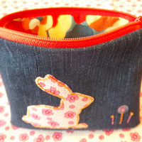 Zippered Bunny Coin Purse