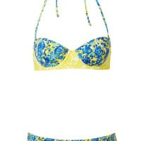 Blue Porcelain Floral Bikini - Swimwear - Clothing - Topshop USA