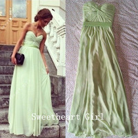 Beautiful Cute Sweetheart Floor Length Prom Dresses