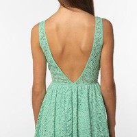 UrbanOutfitters.com &gt; Pins &amp; Needles Backless Lace Dress