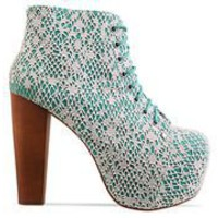 Jeffrey Campbell Lita in Green Ivory Mac at Solestruck.com