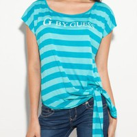 G by GUESS Marlon Striped Logo Top...