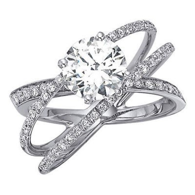 1 ct t w criss cross engagement from samsclub