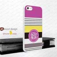 Iphone 4 case Monogram geometric Hard case Rubber case iphone 4s case New Iphone 5 case unique case