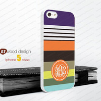 Monogram geometric Colors Hard case Rubber case iphone 4 case iphone 4s case New Iphone 5 case unique case