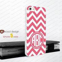 Monogram Pink line geometric  Iphone 5 case unique case Hard case Rubber case iphone 4 case