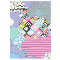 clouds A6 die cut notebook at Paperchase