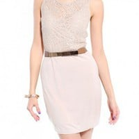 Lace & Jersey Two-Fer Dress