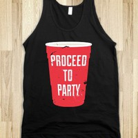 Proceed to Party (Dark) - Howdy - Skreened T-shirts, Organic Shirts, Hoodies, Kids Tees, Baby One-Pieces and Tote Bags