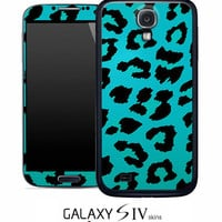 Turquoise Cheetah Skin for the Samsung Galaxy S4, S3, S2, Galaxy Note 1 or 2