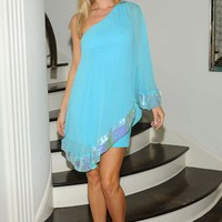 Julie Brown Evan Dress in Turquoise
