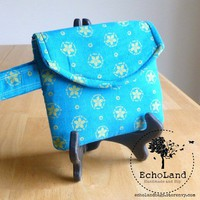 The Minimalist: Wristlet in Blue & Yellow from EchoLand Bags